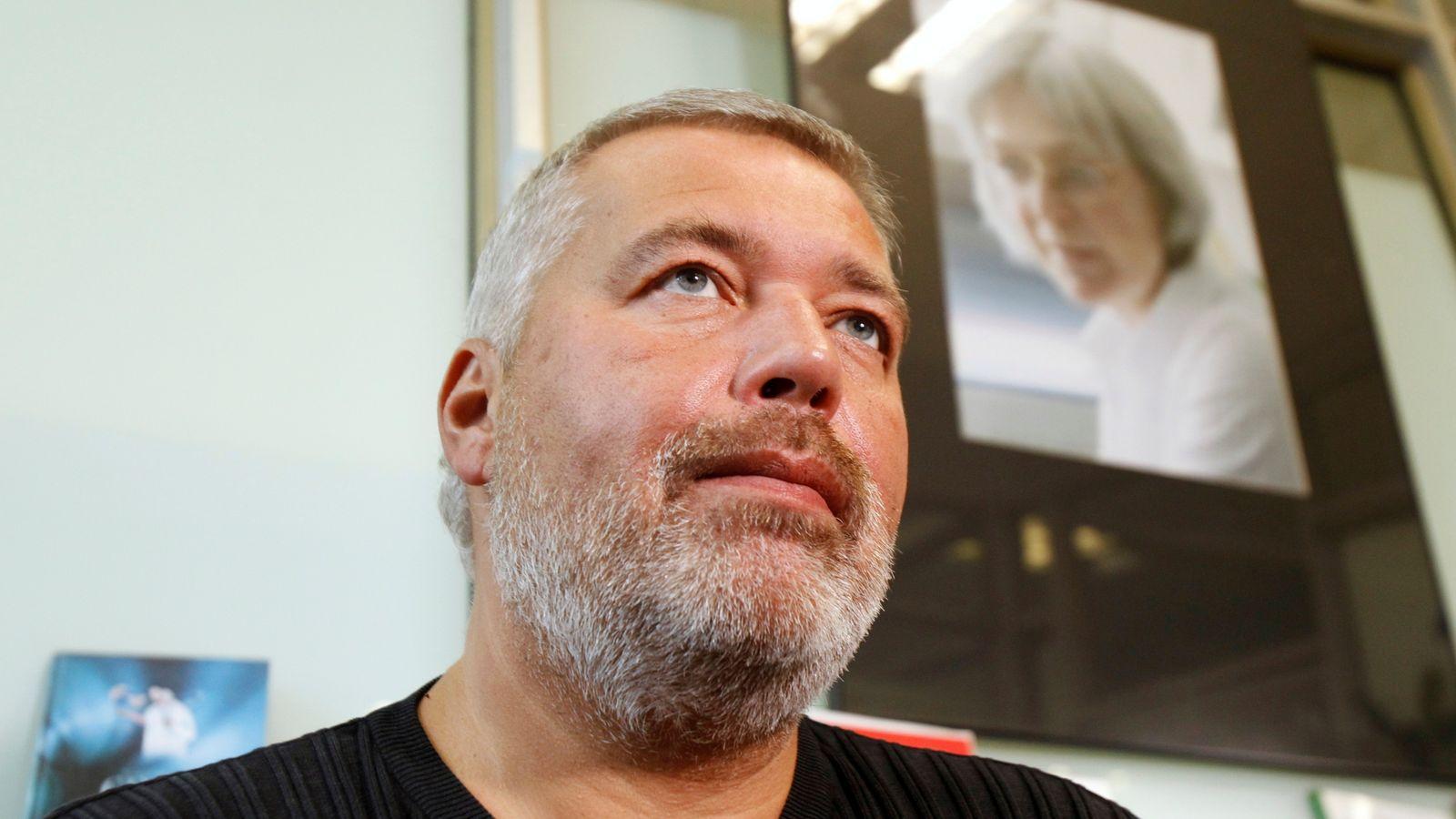Novaya Gazeta's editor-in-chief Dmitry Muratov